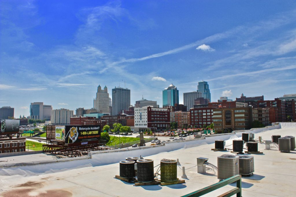 best apartments to watch kansas city fireworks - landmark lofts view